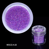 1 Box 0.6-0.8-1MM Caviar  Nail Art Bead Rhinestone for Nails Micro Nai Crystal Ball 3D Nail Art Decorations 15Colors choice