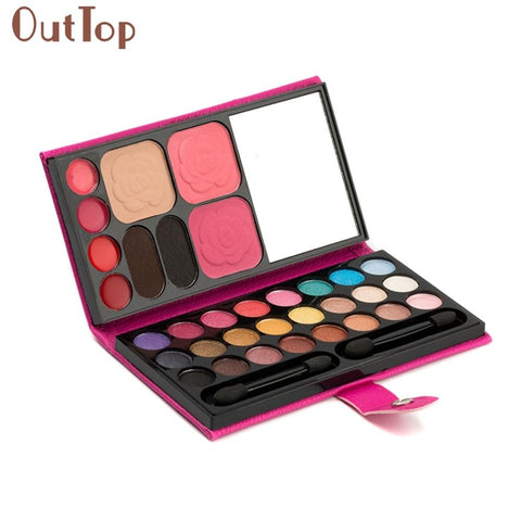 1 Cosmetic Set 33Colors Eye Shadow Makeup Palette Cosmetic Eyeshadow Blush Lip Gloss Powder Makeup Set  JAN14