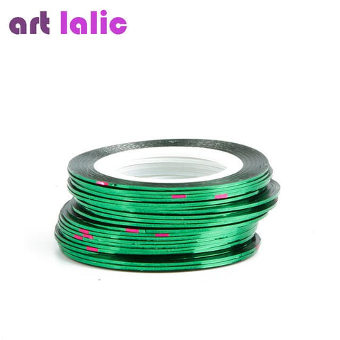 1 Sheet Striping Tape Line Nail Art Sticker Decals Decoration DIY Polish Glitter UV Gel Acrylic Nail Tips Choose Colors