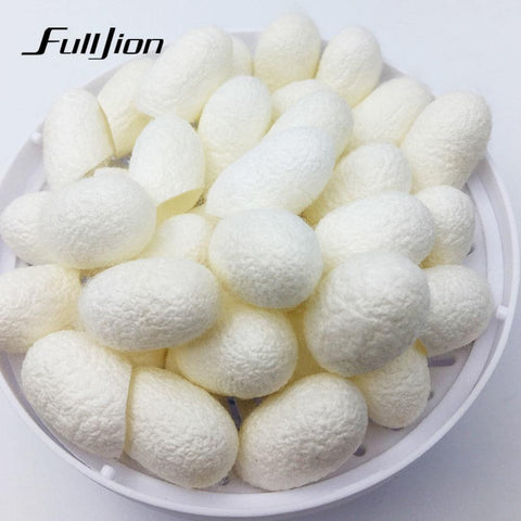 """10pcs/pack HOT Natural silkworm cocoons ball, face care, facial cleanser, exfoliating scrub, blackhead remover peel off"""