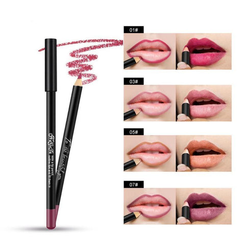 12 Color Matte Lip Liner Lipstick Pencil Waterproof Long Lasting Lip Gloss Lips Makeup Cosmetic Maquillajes Para Mujer