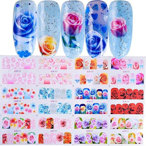 12 Styles Romantic Lady Red Beauty Nail Art Water Transfer Sticker Decoration Decals Tool Wraps Sexy Tattoo Manicure JIBN373-384