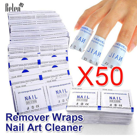 Belen 2017 Professional 50 Pcs / Lot Gel Polish Remover Wraps Nail Art Gel Polish Nail Art Cleaner Nail Polish Remover Wipes