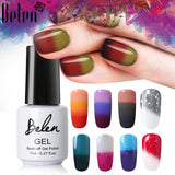 Belen 3 Color 2 Color Thermal Nail Gel Polish 7ml Temperature Color Changing Soak Off UV Gel Lacquer Manicure Lucky Varnish