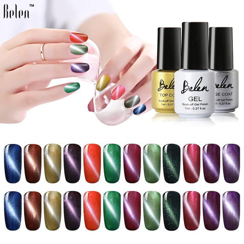 Belen 7ml Magnet Cat Eyes Gel Nail Polish Cat's Eye UV Nail Gel Polish Gel Varnish Lacquer Lak Gelpolish Vernis Semi Permanent