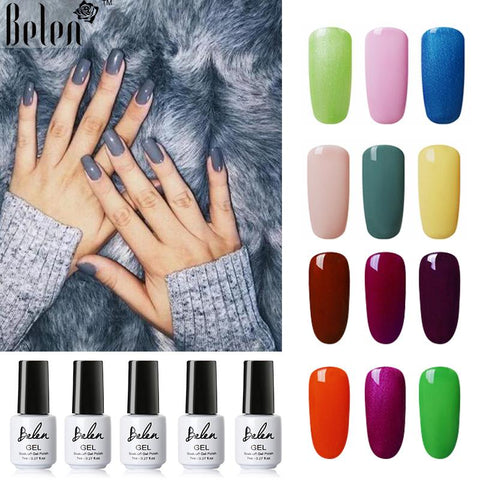 Belen 7ml Nail Art Nail Polish UV Led Gel  Gel Polish Lucky Soak Off Vernish Semi Permanent Lucky Lacquer Gelpolish Gel