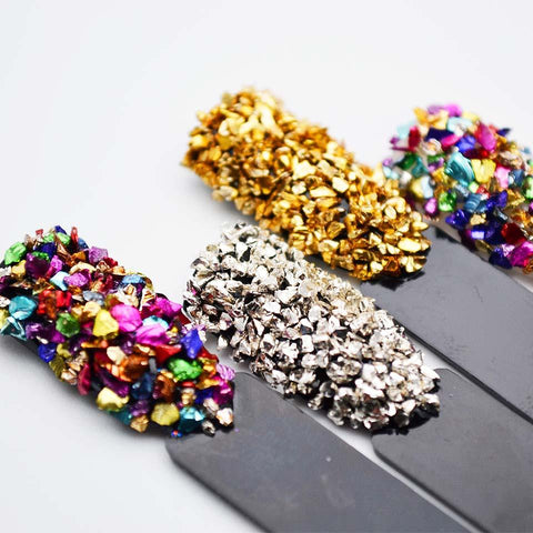 Broken Glass Rhinestones for Nails Gems Nail Art Rhinestones Mix Rhinestone 3d Nail Art Decorations Stones for Nail MJZ2051