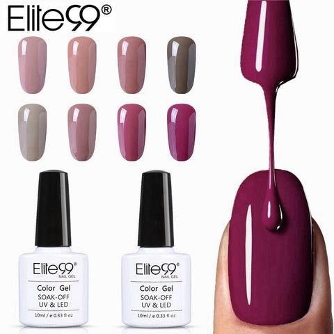Elite99 10ml Pure Color Gel Polish Varnish UV LED Gorgeous Nude Series UV Gel LED Lamp Nail Art Design Hot Sale Nail Gel Lacquer