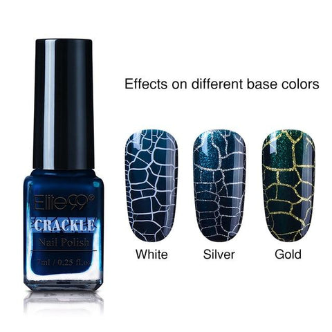 Elite99 7ml Soak Off Crackle Nail Polish Perfect Cracking Nail Lacquer Primer Quick Drying DIY Beauty Nail Art Tools