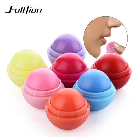 Fulljion Ball Lip Balm Lipstick Organic Ingredients Lip Protector Sweet Taste Fruit Embellish Makeup Lipstick Gloss for mouth
