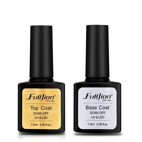 Fulljion Base Top Coat Transparent Nail Art Gel Nail Polish UV LED Soak Off Long Lasting Primer Lacquer Nail Manicure Varnish