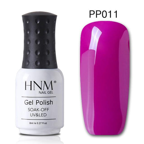 HNM 8ML Gray Series Winter Color UV Gel Nail Polish LED Lamp Gel Nail Polish Soak Off Hybrid Varnish Paint Stamping Top Base
