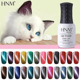 HNM 8ML Magnet Cat Eye Gel Nail Polish UV Led Gel Polish Long Last Hybrid Varnish Lacquer Gel Lak Lucky Semi Permanent Gelpolish