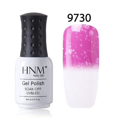 HNM 8ml  Nail Polish Snowy Temperature Color Change Nail Gelpolish UV Gel Polish Hybrid Lacquer Varnish GelPolish Stamping Glue