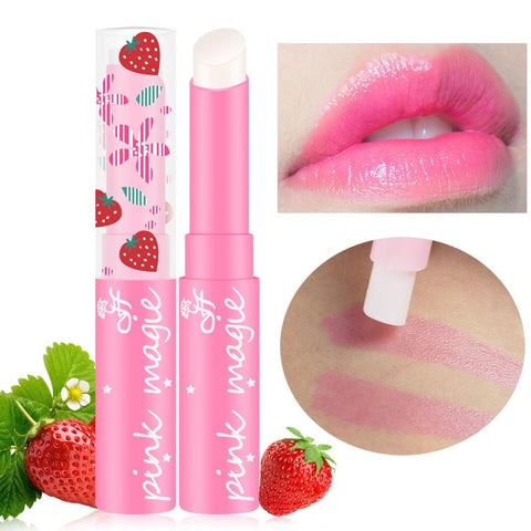Hot 1pcs Makeup Pink Baby Lips Nude Lipstick Cosmetics Waterproof Jelly Lips Balm Moisturizering Lip Care