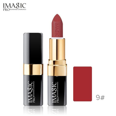 IMAGIC new 12 color lip makeup cream lipstick waterproof lasting light color sexy red lipstick beauty matte eyeliner lipstick