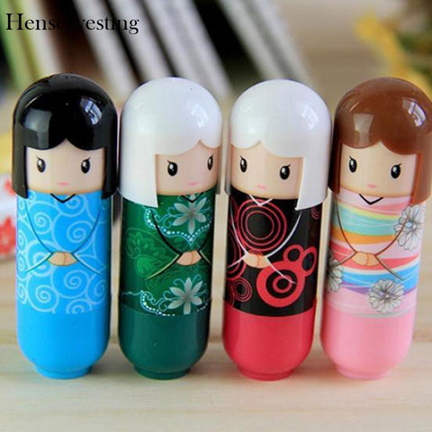 Lip Balms Cute Dolls Lip Lipstick  Random Color Moisturizing Anti-Cracking Exfoliating Fresh Nourishing Makeup Cosmetic
