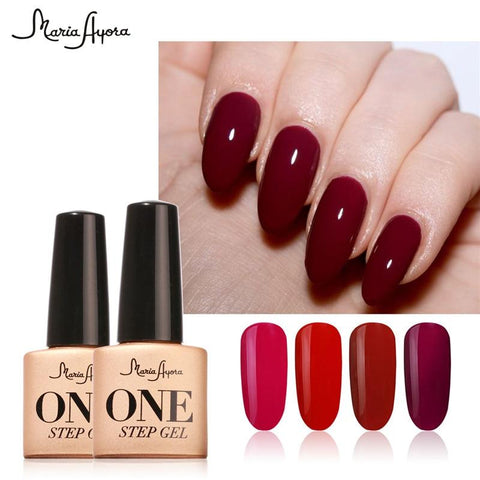 Maria Ayora One Step Gel Nail Polish Fashion UV Gel Polish Varnish Manicure Soak Off 3 in 1 Long Lasting Nail Gel Nail Art