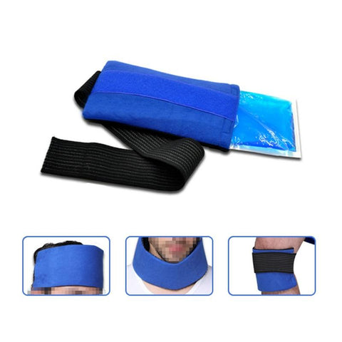 """Massage & Relaxation  Headgear, Wrist, Elbow, Knee Cloth Cover, Gel Hot and Cold Ice Pack Fit for Eyes and Face Skin"""
