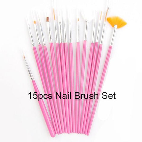 NICOLE DIARY UV Gel Brush Liner Painting Pen Acrylic Drawing Brush for Nails Gradient Rhinestone Handle Manicure Nail Art Tool
