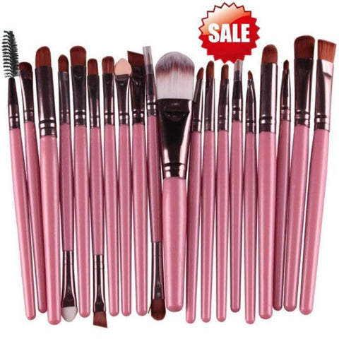 OutTop 2018 NEWLY15 pcs/Sets Eye Shadow Foundation Eyebrow Lip Brush Makeup Brushes Tool 04.13