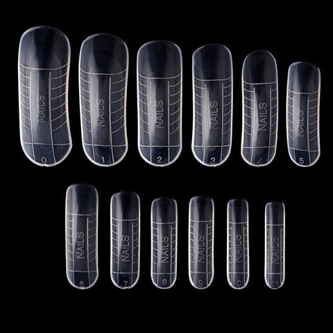 Poly Gel Quick Building Nail Mold Dual Forms Tips Clip Finger Extension Nail Art UV Builder Gel Tool