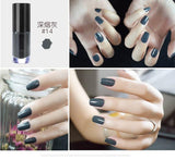 Professional 2017 New Nail Lacquer Art Decoration Waterproof 6ml Pigment Metal Black Red Nude Peel Off Nails Polish Colors