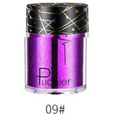 Pudaier Professional Glitter Shimmer Powder Pigment Eyeshadow Highlighter Beauty Makeup Shiny Body Glow Festival Party Cosmetic
