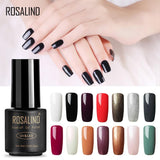 ROSALIND 7ML 01-30 Semi Permanent Soak Off Salon UV Nail Gel Polish Primer Nail Art Lacquer Top Base Coat Needed Gel Varnishes