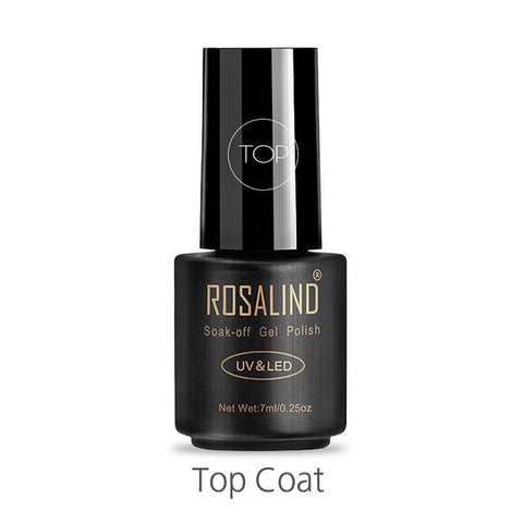 ROSALIND 7ML Gel Varnish Gellak Hybrid Semi Permanent UV Gel Nail Polish Soak Off Design Nail White Prime For Enamel Nail Art