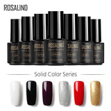 ROSALIND Gel 1 7ml Nail Polish Soak Off Nail Gel Polish Nail Art  UV LED Vernis Semi Permanent gel lacquer