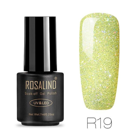 ROSALIND Gel For Nail Polish Set Manicure Top Base Coat UV Gellak Polish Hybrid Color Vernis Semi Permanent Cuticle oil Primer