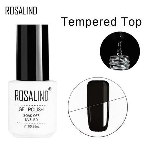 ROSALIND Gel For Nail Polish Set uv 7ML White Bottle Nails Art Gel Soak Off Rainbow Series Set For Manicure Gel Varnish Top Coat