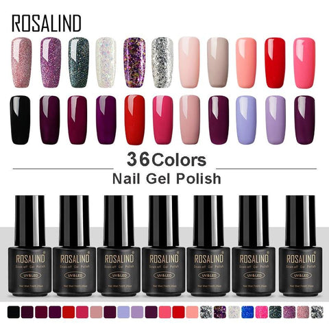 ROSALIND Gel Nail Polish 7ML UV Colors Gel of Nails for Nail Art Manicure Set Vernis Semi Permanent Hybrid Gel Varnish Base Top