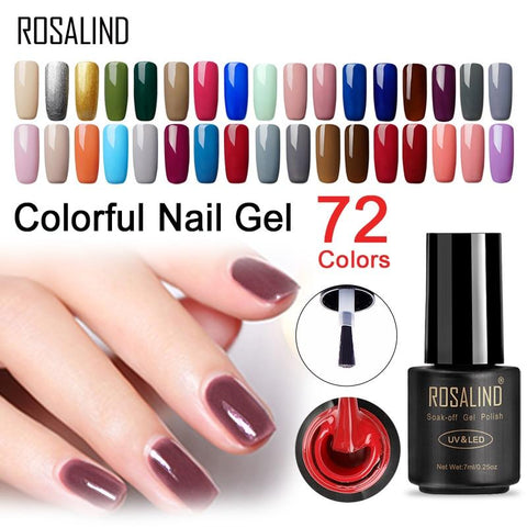 ROSALIND Gel Nail Polish Nail Art Manicure 7ml Primer Acrylic Gel Lacquer UV Lamp Poly Gel of Nails Soak Off Nails Accessoires