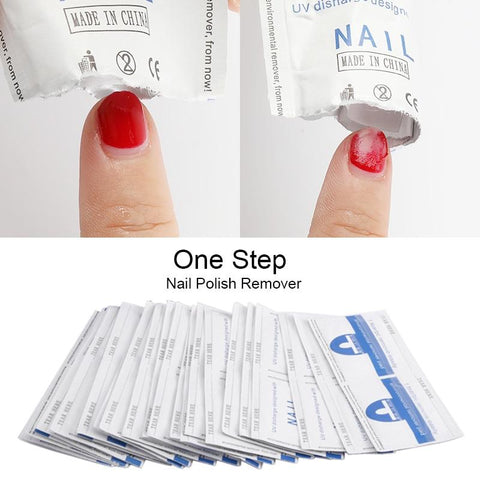 ROSALIND Gel Nail Polish Remover Lint-Free Wipes Nail Art 100Pcs/set All for Manicure Easy degreaser for Nails Gel polish Remove