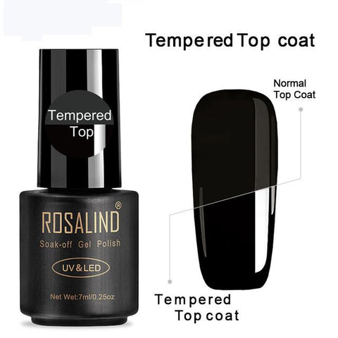 ROSALIND Gel Nail polish Nails Gel Primer Semi Permanent Top Coat UV 7ML Colors All for manicure Hybrid Nail Art Gel Polish