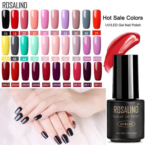 ROSALIND Gel Polish Nail art Set For Manicure Hybrid Nails Color Polygel Vernis Semi Permanent UV Gel paint Nail Polish Varnish