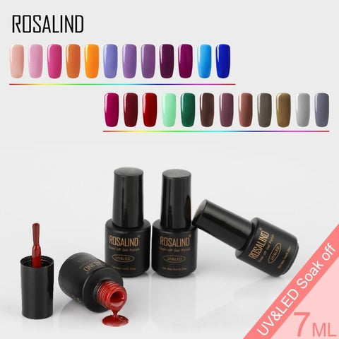 ROSALIND Gel Polishes Manicure Set UV Gel For Nails Polish Color Hybrid Vernis Semi Permanent Base Top Primer Gellak Varnish