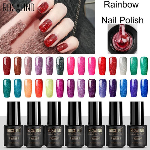 ROSALIND Gel Varnish Nail Polish 7ML Rainbow vernis semi permanent R01-29 hybrid UV gel Manicure Nail Art nail gel polish