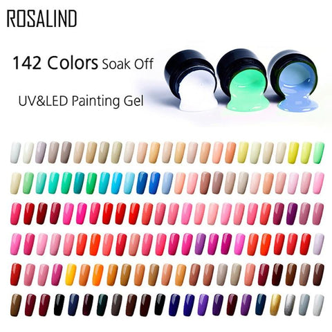 ROSALIND Gel Varnishes Set Painting Gel Nail Polish Nails 5ml DIY Design All For Manicure Hybrid Nail Art Primer Gel Polish