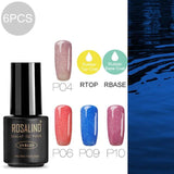 ROSALIND Hybrid Nail gel Set For Manicure Semi Permanent LED UV gel soak off MIX colorful gel lacquer varnishes