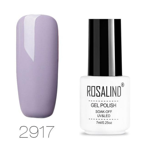 ROSALIND Nail Art Gel Varnishes Polish Soak Off 7ML White Bottle Vernis Semi Permanent Set Manicure UV Gel Nail Polish