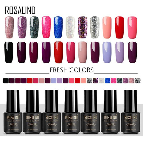 ROSALIND Nail Gel Polish set For Gel Varnish Hybrid Extension 7ML Fresh Colors Manicure Primer Nail Art Nails UV gel nail polish