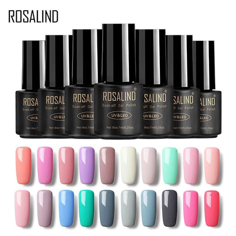 ROSALIND UV gel polish Semi Permanent Hybrid Gellak Set For Nail Manicure Soak off Top Coat White Gel varnishes