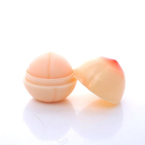 Romantic Bear New Cute Makeup Peach Shape Moisturizer Nutritious Lip Balm Long Lasting Lips Care Brand Lipstick Balm