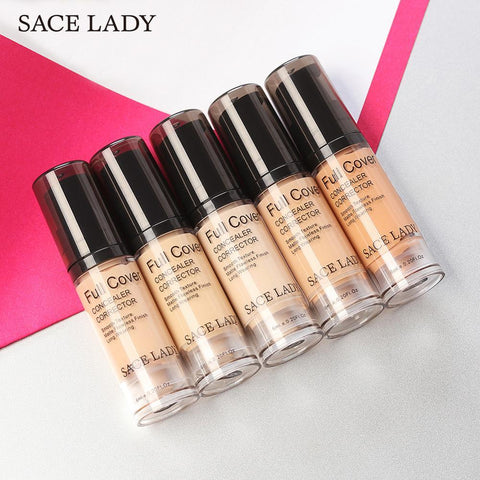 SACE LADY Face Concealer Cream Liquid Makeup Full Cover For Dark Circles Natural Complexion Blemishes Spots Face Flaws Cosmetic