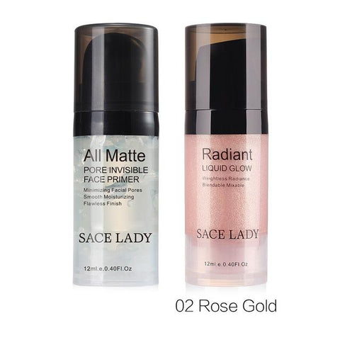 SACE LADY Face Makeup Set Highlighter Cream Matte Foundation Primer Illuminator Liquid Glow Make Up Kit Shimmer Base Cosmetic