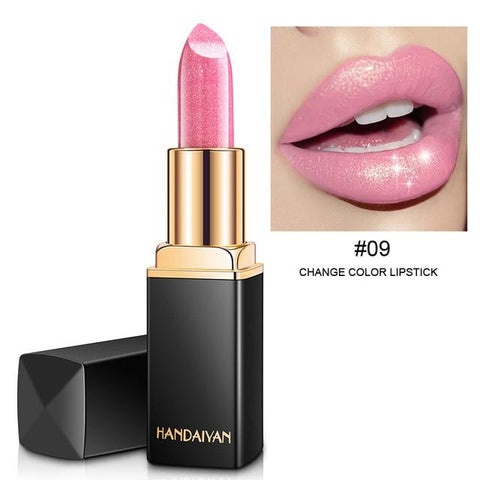 Sexy Lips Glitter Super Metallic Lipstick Temperature Change Color Gold Shimmer Red Rouge A Levre Pearl Shining Pigment Lip Balm