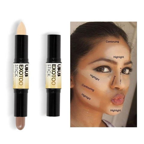 UBUB Makeup Creamy Double-ended 2 in1 Contour Stick Contouring Highlighter Bronzer Create 3D Face Makeup Concealer